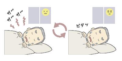 睡眠時無呼吸症候群の眠り方